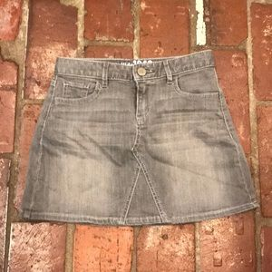 Girls Gap grey denim mini skirt size 10